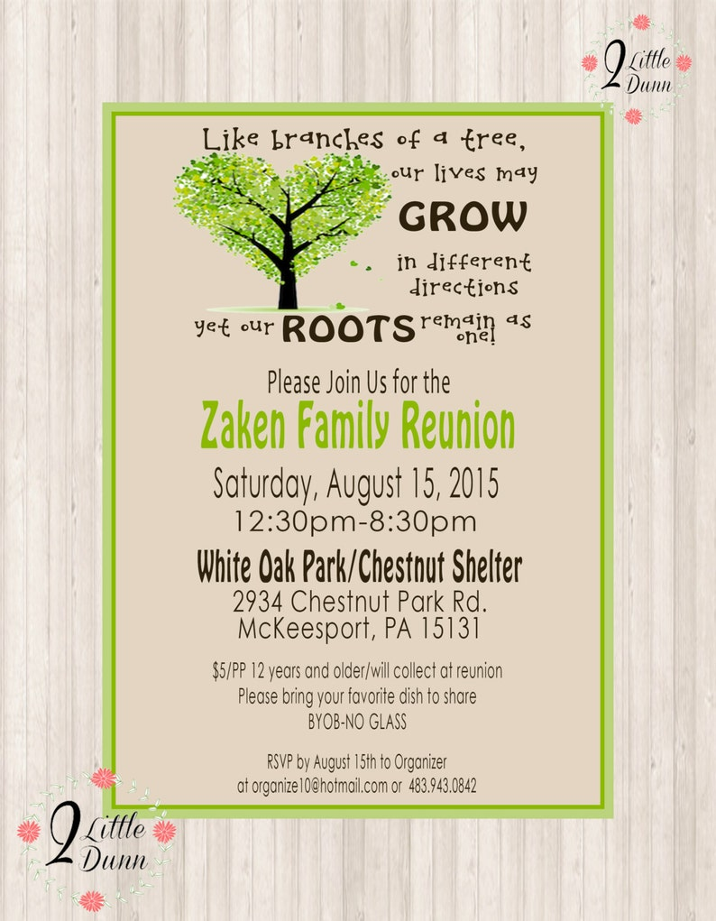 picture relating to Free Printable Family Reunion Invitations titled Loved ones Reunion Invite - PRINTABLE Electronic INVITATION