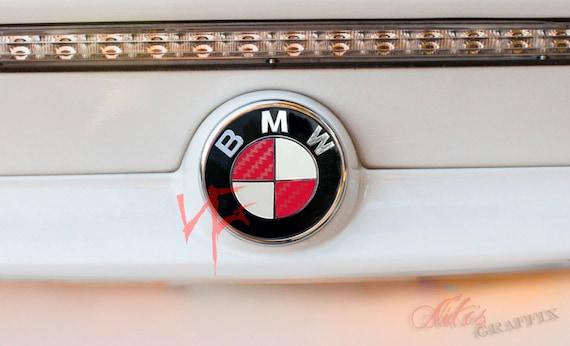 BLACK /& HOT PINK Badge Emblem Overlay Wrap FOR BMW HOOD TRUNK RIMS FITS ALL BMW