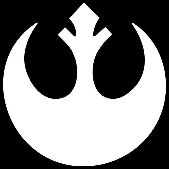 New Republic Vinyl Decal Sticker Car Helmet Wall Window Star Wars Symbol Design