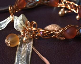 Fires of Dale - Copper Wire Elven Tolkien Medieval Celtic Cuff Bracelet