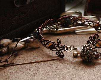 Strength of Freydis - Fantasy Viking Celtic Cuff Bracelet