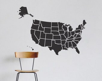 map of usa decal sticker map of usa wall decal usa vinyl wall decal removable