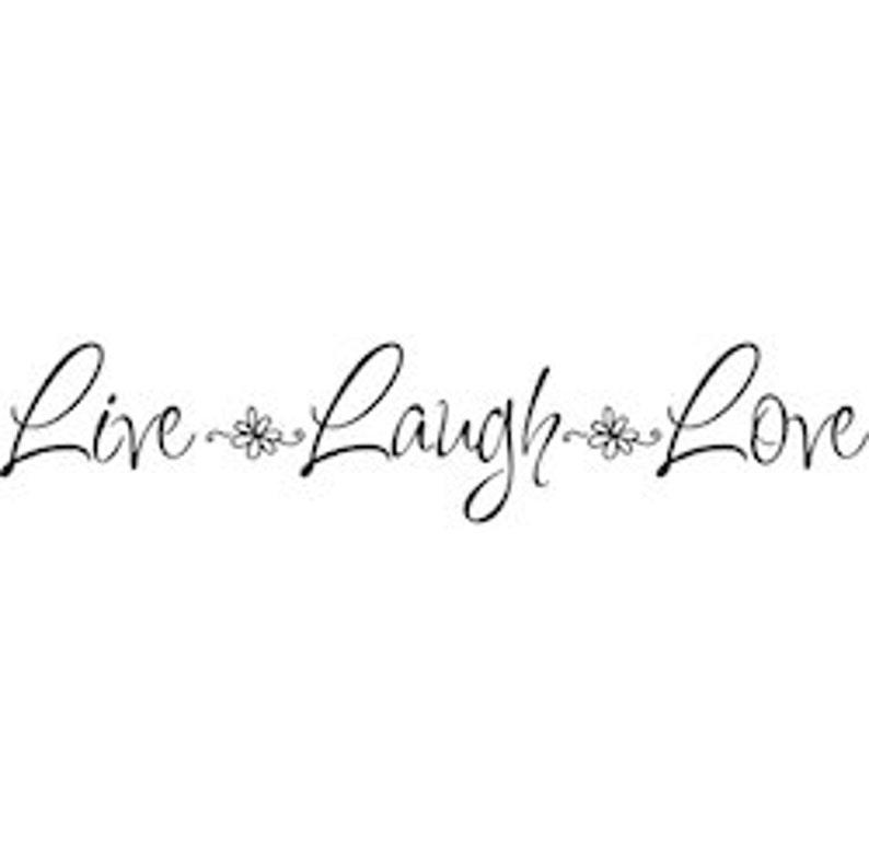 Etiquetas De La Pared Live reír Love Vinilo Pared citar Stickers Muro una pegatina calcomanía I34