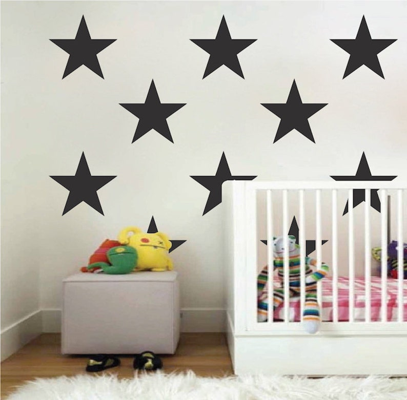 large bedroom star stickers big star wall vinyl decal | etsy