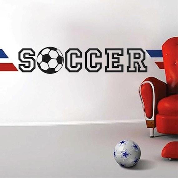 Fussball Vinyl Wand Sport Zitat Wandtattoo Wandbild Fussball Fussball Kinderzimmer Aufkleber Fussball Wand Dekor Soccer Wandgestaltung Fussball 20c
