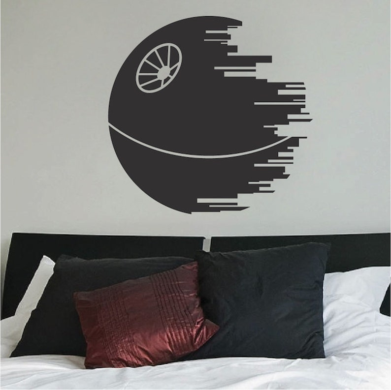 Imperial Logo Wall Decal Dark Side Logo Wall Sticker g65 Star Wars Wall Vinyl