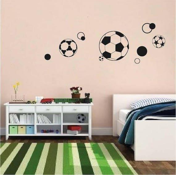 . Soccer Ball Wall Decals Football Wall Mural F tbol Wall Art World Cup Wall  Designs Removable Soccer Balls Wallpaper Wall Cling FIFA  s18