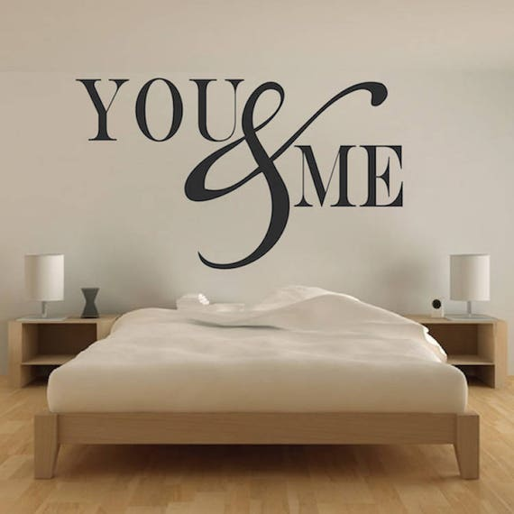 You And Me Wall Decal Living Room Wall Art Removable Cute