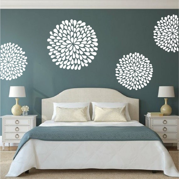 Poppy Wall Decal Bedroom Stickers, Bedroom Poppy Designs, Poppy Decals,  Removable Adornment Decals, Ornament Wall Art, Home Designs, b74