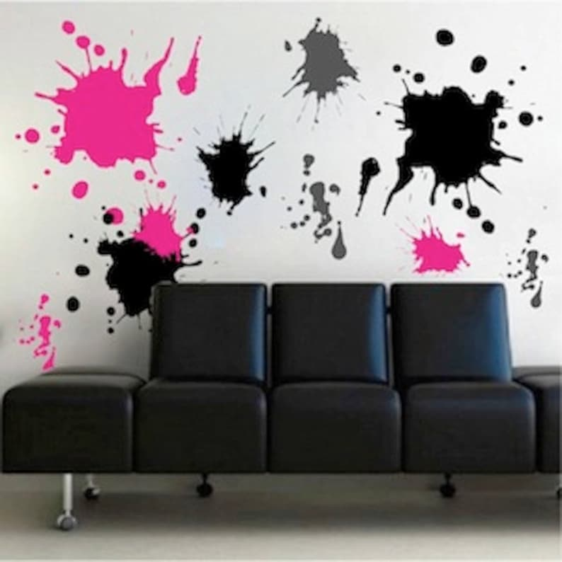 Ink Splash Wall Decals, Teenagers Wall Stickers, Removable Wall Art, Cool  Decals For Kids   Wall Art Shape Decals   Colorful Wall Decal, D21