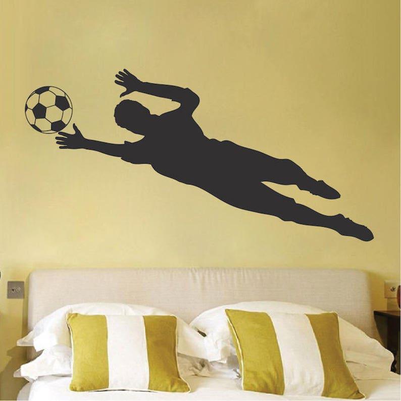 736da9a72deeb1 Calcio portiere Dive parete decalcomania calcio parete murale | Etsy