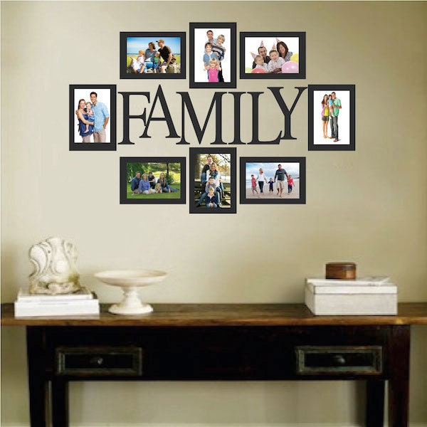 Family Picture Frame Wall Decal Photo Wall Decal Removable Etsy