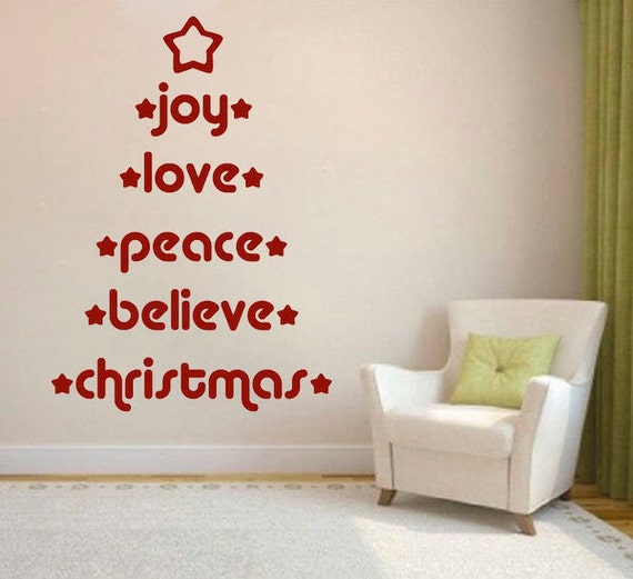 Christmas Wall Decals Removable.Christmas Tree Wall Decal Christmas Wall Decals Decoration For Christmas Christmas Wall Designs Removable Holiday Decal Murals H33
