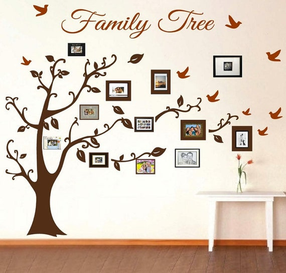 Family Tree Wall Decal Picture Frame Wall Decals Living Room | Etsy
