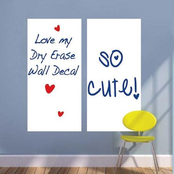 rectangular dry erase vinyl wall decal decal writable wall   etsy