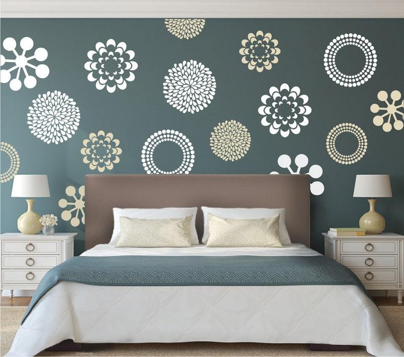 Merveilleux Modern Flower Bedroom Wall Decals Stickers Murals, Removable Bedroom  Decals, Floral Decals For Bedroom, Wallpaper Decals For Bedroom, F29