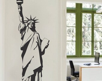Statue of Liberty Wall Decal, America Wall Decal, United States Wall Decal, New York Wall Vinyl, Removable Lady Liberty Wall Decal, a17