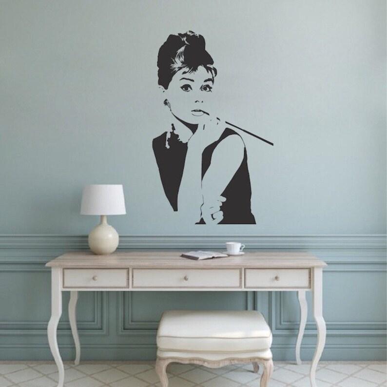 Audrey Hepburn Wandtattoo Image 0