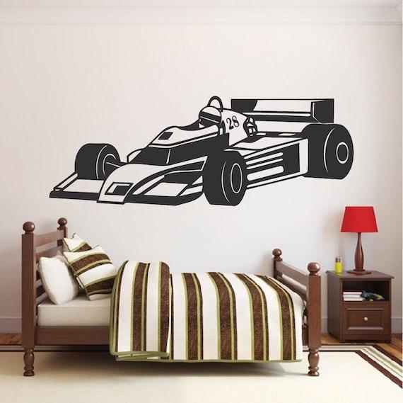 Race Car Wall Decal Race Car Wall Decor Racing Wall Vinyl | Etsy