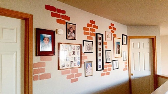 Brick Wall Decals Individual Stickers Removable