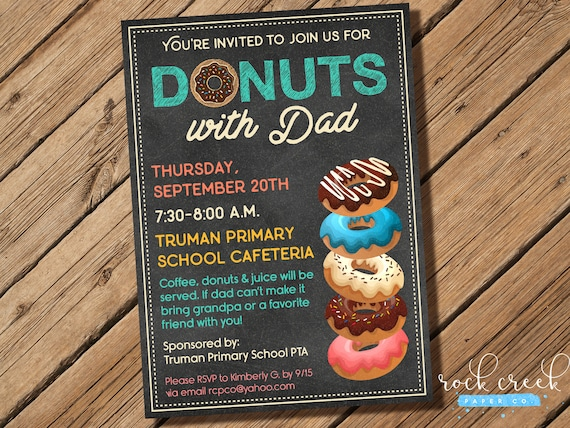 donuts with dad invitation doughnuts with dad invitation