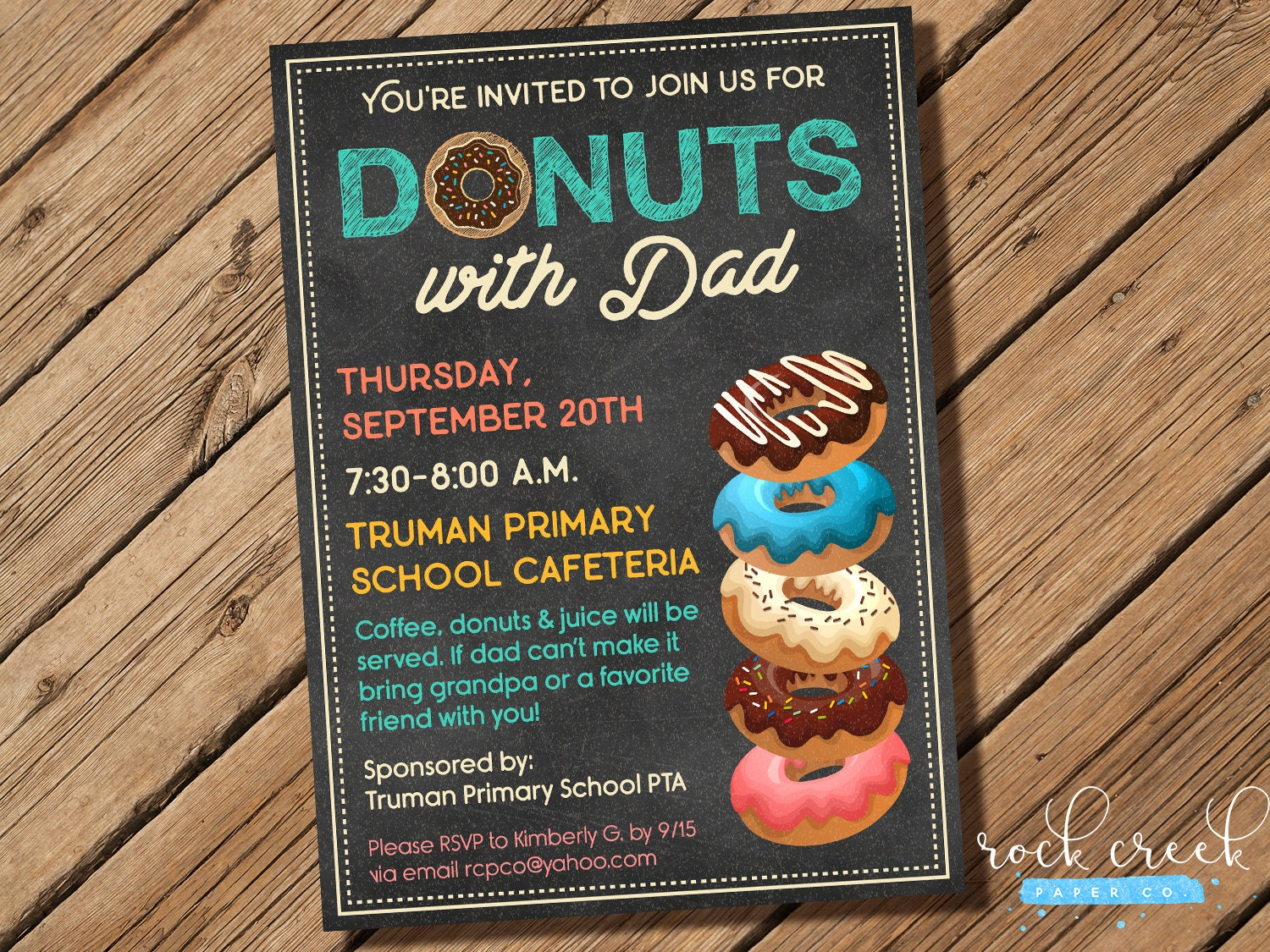 Donuts with Dad Invitation Doughnuts with Dad Invitation ...