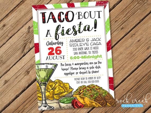 taco party invitation mexican fiesta invitation cinco de mayo