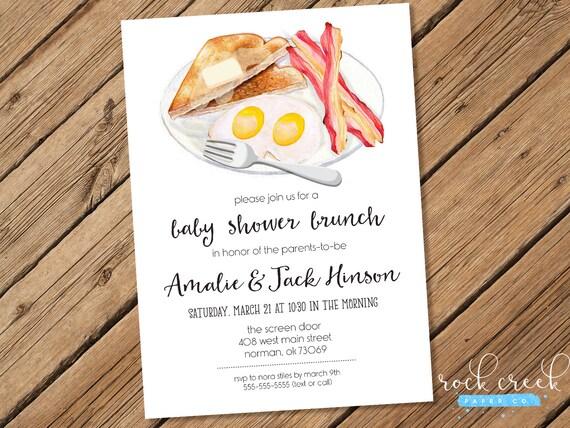 Breakfast Baby Shower Invitation Mommy Baby Shower Couples Etsy