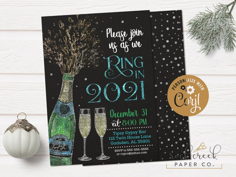 New Year's Eve Party Invitation Ring in 2021 Invitation | Etsy
