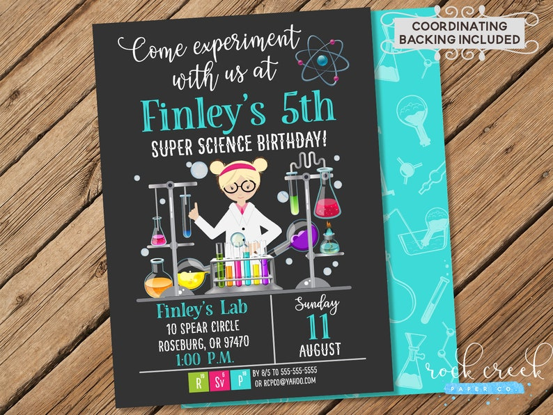 Mad Science Birthday Invitation Super Science Birthday Party Etsy