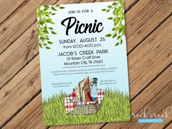 summer picnic invitation park picnic invitation picnic in the park