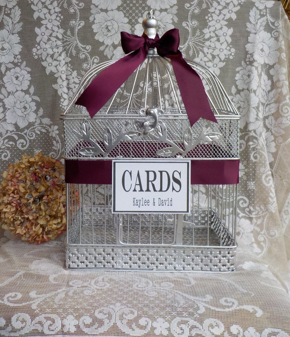 Wedding Bird Cage Money Holder, Card Box, Birdcage Card Holder, Shower  Cards, Silver Wedding Anniversary Supplies Wedding Cards Shower Cards