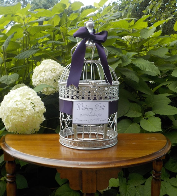 Bird Cage Card Holder, Wishing Well Birdcage, Bridal Shower Special Wishes,  Shower Cards, Wedding Cards, Shower Money Holder Shower Supplies