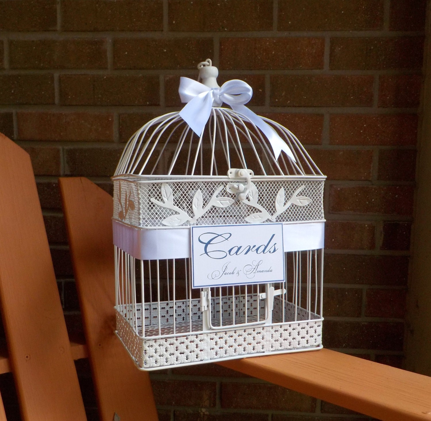 Money Cage >> Wedding Bird Cage Money Holder Bird Cage Wedding Card Box Etsy