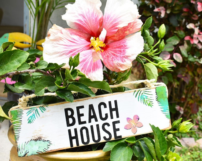 Featured listing image: Beach House Sign / Beach House Decor / Beach Signs/ Wholesale Home Decor / Sea Gypsy Signs