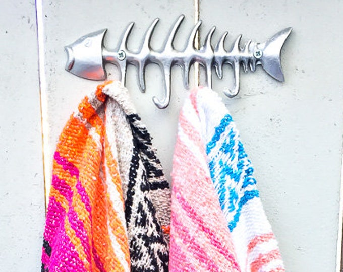 Fish Hook/ Cast Iron / Key /Entry / Sea Gypsy California / Nautical/ beach towel hook / urban outfitters/wholesale available