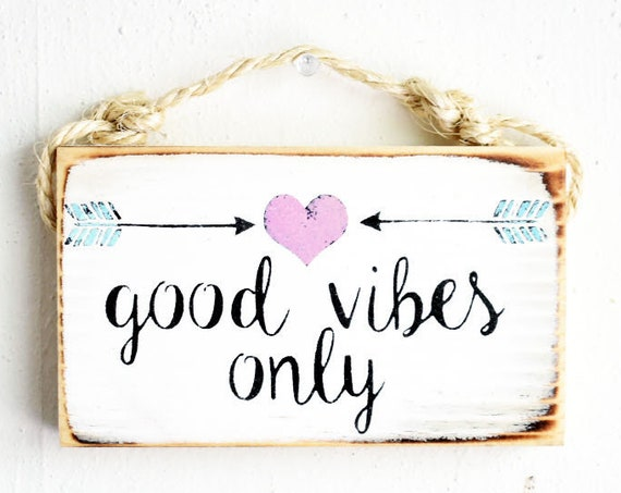 Good Vibes Only Sign / Dorm Room Decor / Stocking Stuffers for teens / Sea Gypsy California / Brandy Melville Sign / Wood SIgn