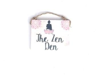 10c87bc8ba The Zen Den   Yoga   Buddha   Meditation   Yogi   decor   Sea Gypsy  California   Zen   Wood SIgn