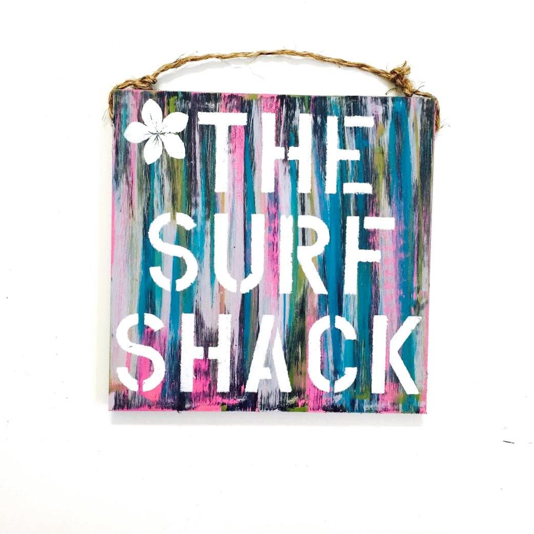 Surf Shack Sign Surf Art Surf Gift Surf Decor Beach House