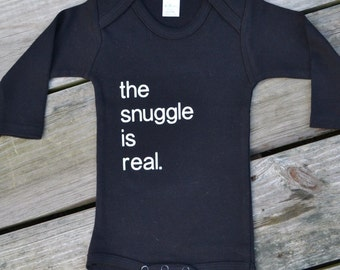 The Snuggle is Real bodysuit | Baby bodysuit | Baby boy bodysuit | Baby girl bodysuit | Gender neutral | Custom baby clothes