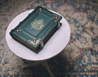 """8"""" x 10"""" - The Basmala leather journal - Book of Shadows - Magical journal - Magician book - Traveler sketchbook"""