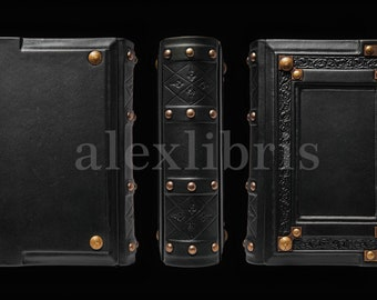 """8"""" x 10"""" - Medieval styled leather journal - Book of Shadows - Magical journal - Magician book - Traveler sketchbook"""
