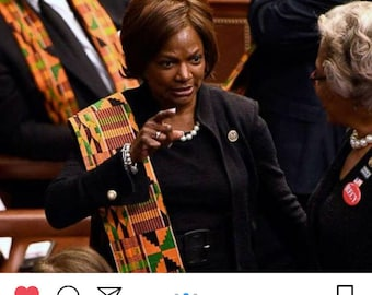 State Of the Union Protest Kente Scarf or Graduation Stole
