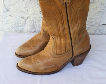 5199b52b16df0 Stacked heel boots   Etsy