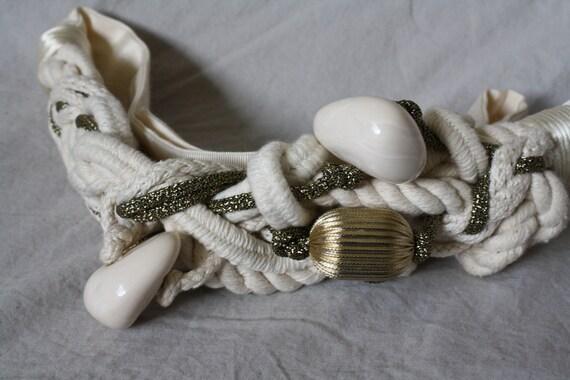 1980s Carolyn Tanner Belt / Vintage Dynasty Belt /