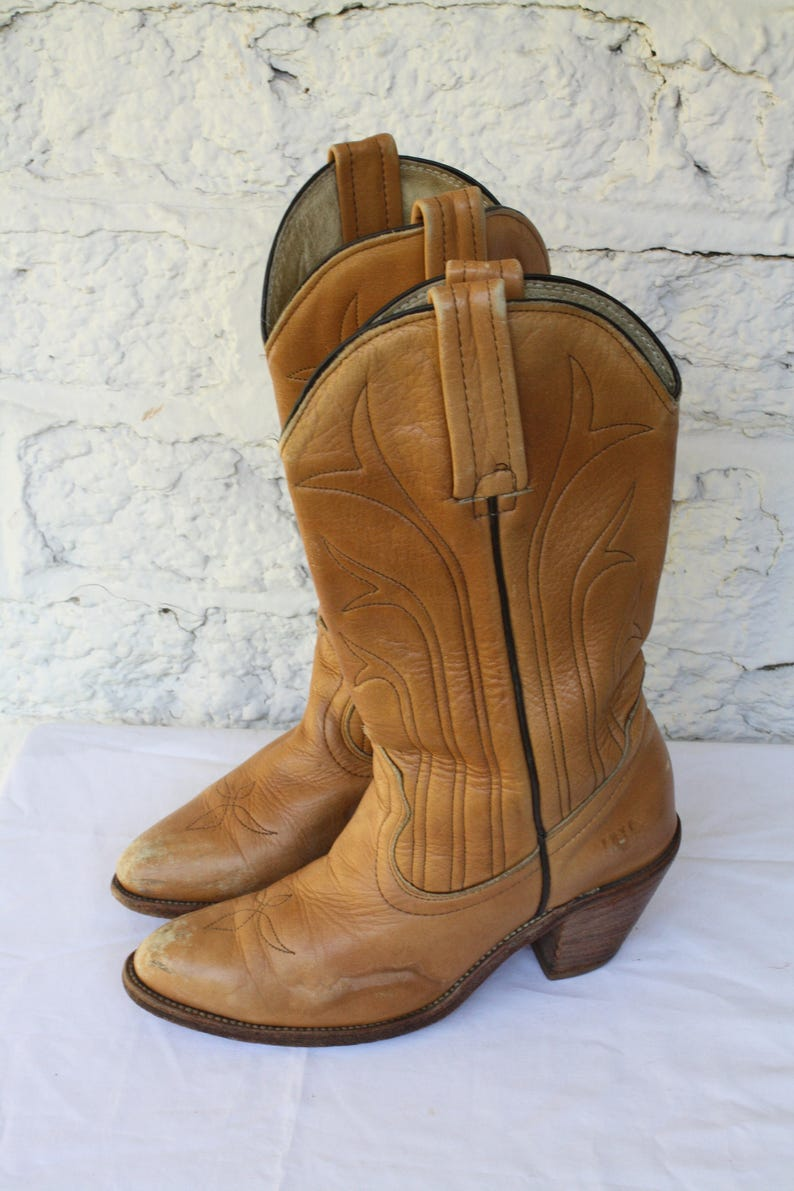 ff136ead9db9d 1980s Frye Boots / Cowboy Kicker Boots / Stacked Heel Boots / Boho  Southwest Boots / Vintage 80s Frye Western Boots / Vintage Frye Boots 7