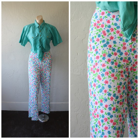 0fd360a717224b 1970s Bell Bottoms / Vintage Lilly Pulitzer Pants / Signature | Etsy