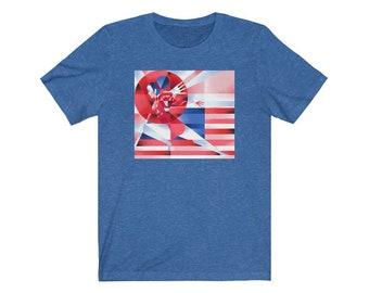 Sunisa-Lee Inspired Red, White, & Blue - Unisex Jersey Short Sleeve Tee