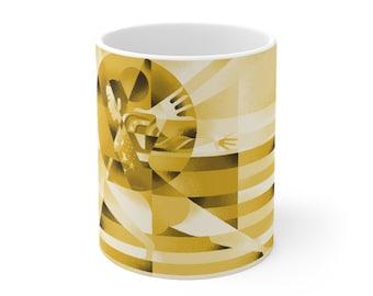 "Sunisa-Lee Inspired  ""Gold"" Ceramic Mug 11oz"
