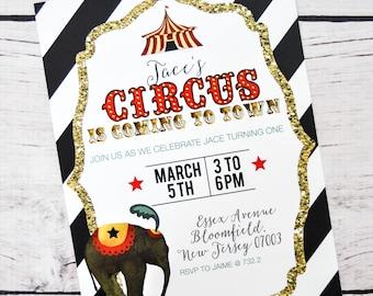 PDF Printable Circus Invitations